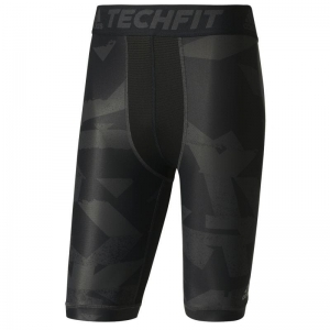 Spodenki termoaktywne adidas Techfit Chill Print Tights M CD3891